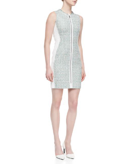 T Tahari Avani Sleeveless Zip-Front Dress
