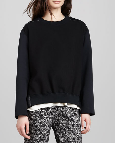Mix-Fabric Sweatshirt