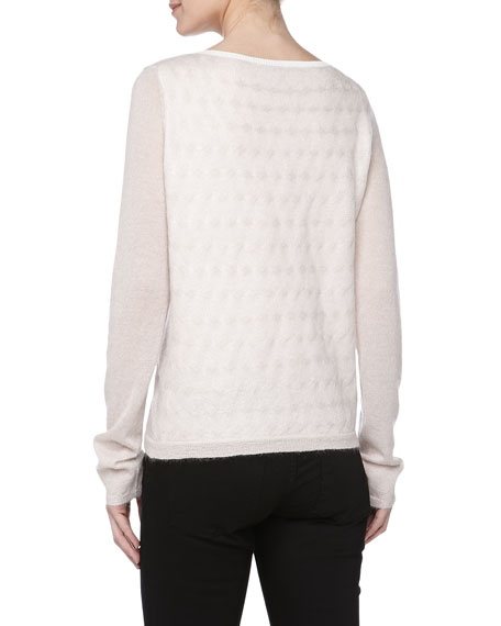 Lightweight Cable-Knit Sweater