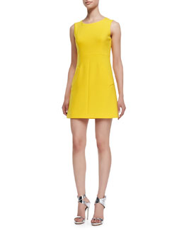 Diane von Furstenberg Carpreena Sleeveless Dress, Buttercup