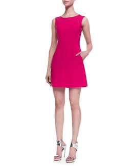 Diane von Furstenberg Carpreena Sleeveless Dress, Pink Spice