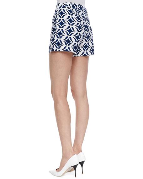 Napoli Printed Shorts, Batik Blue/White