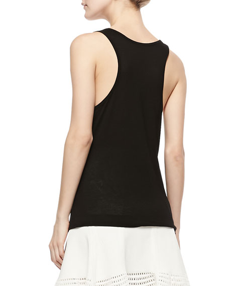 Josaline Jersey Tank Top, Black