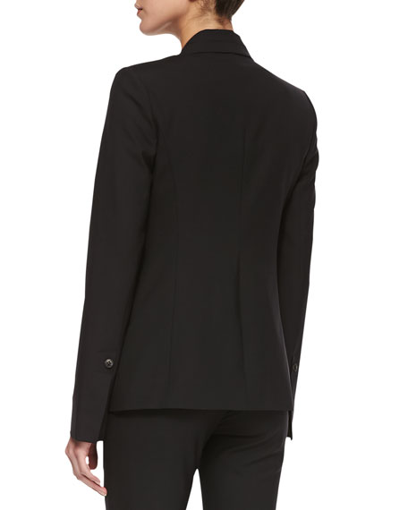 Tuxedo-Style Suiting Jacket, Black