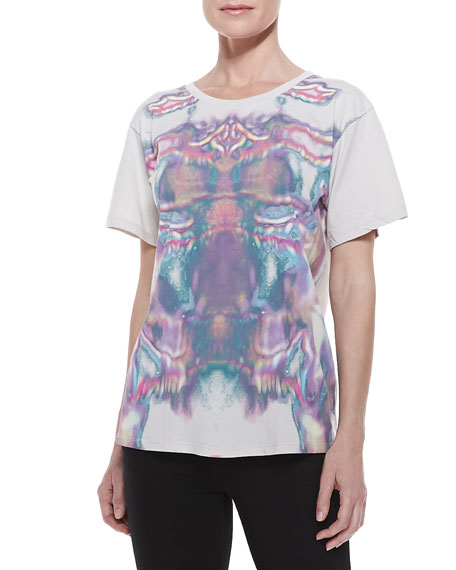 Jersey Printed Short-Sleeve Tee, Multi