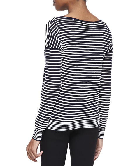 Striped Bateau Long-Sleeve Sweater