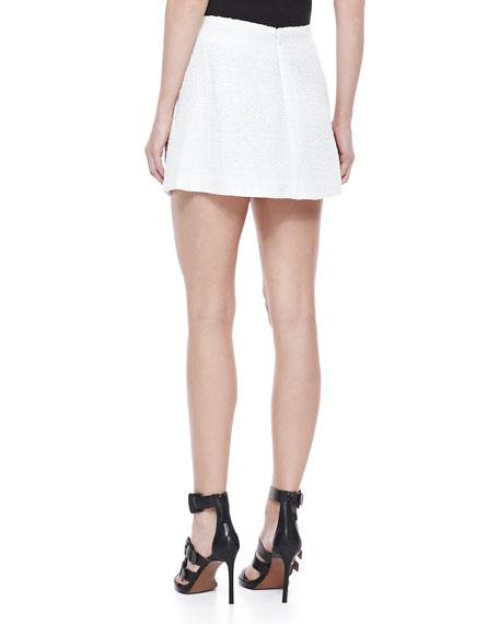Tweed Mini Skirt, White