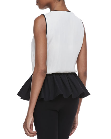 Georgette Peplum Top