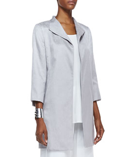 Eileen Fisher Floating Shimmer Coat, Petite