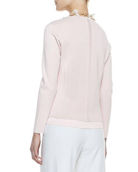 Silk-Cotton Interlock Jacket, Shell