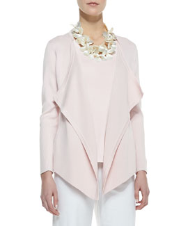 Eileen Fisher Silk-Cotton Interlock Jacket, Petite