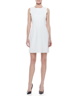 Theyskens' Theory Leather Scoop-Neck Dress