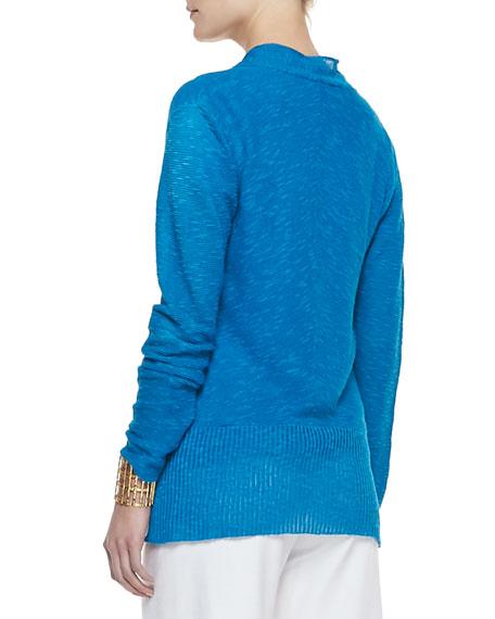 Organic Slub-Knit Cardigan, Women's