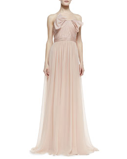 Notte by Marchesa Strapless Organza Bow-Bodice Gown