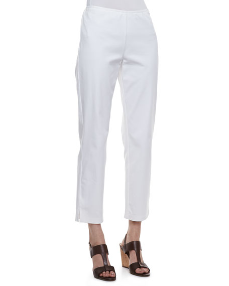 Twill Slim Ankle Pants, Petite