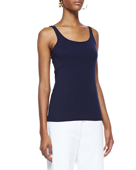 Organic-Cotton Long Slim Tank