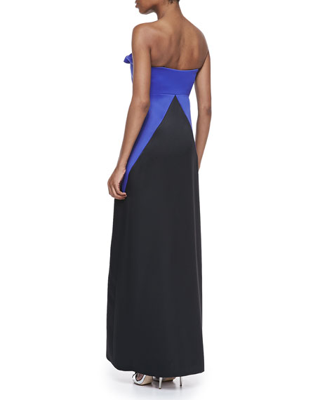 Strapless Knot-Tie Gown