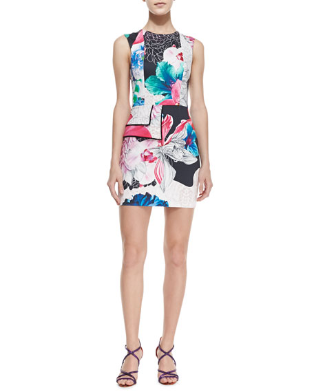 Flame of Passion Floral-Print Dress