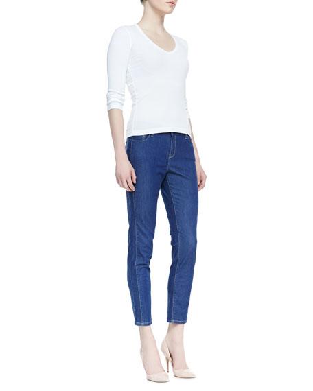 Valencia Cropped Ankle Jeans, Bijou Wash