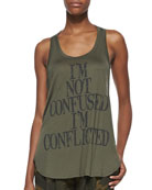 Haute Hippie I'm Not Confused Tank Top