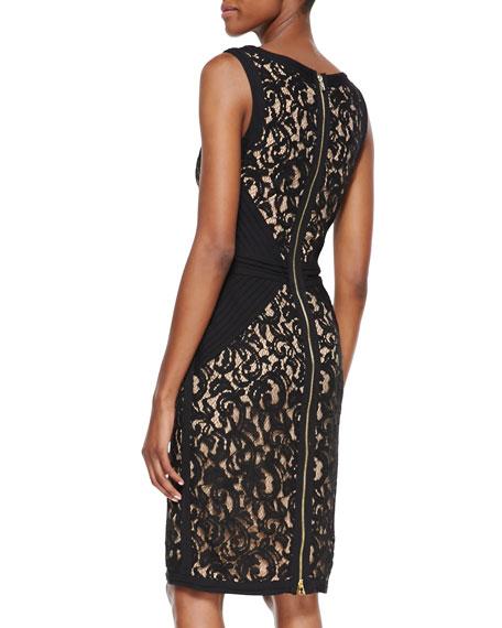 Sleeveless Lace Body-Conscious Dress