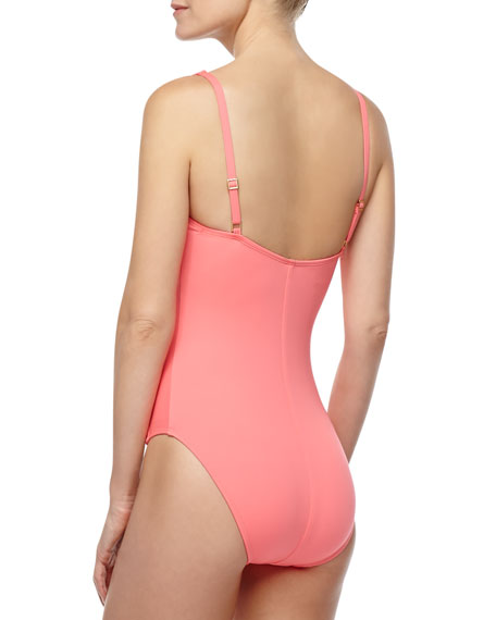 Island Goddess Sweetheart-Neck One-Piece Swimsuit