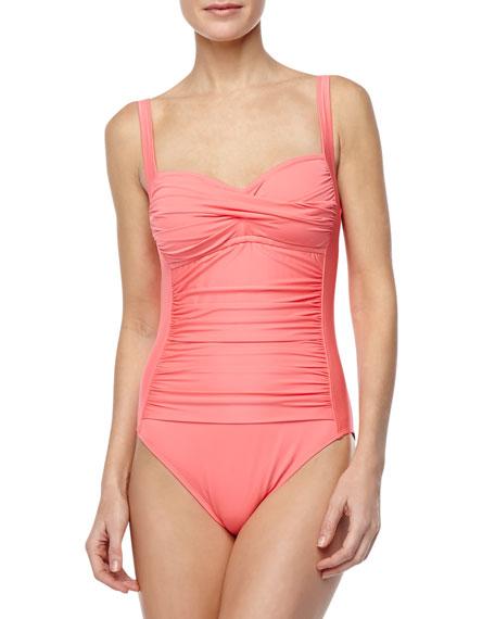 Island Goddess Sweetheart-Neck One-Piece Swimsuit