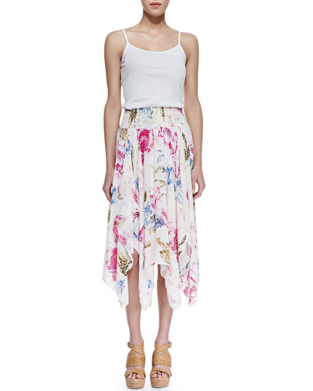 Fly Away Floral Handkerchief Skirt