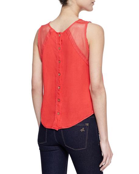 Short Sleeve Shellstock Top, Poppy Red