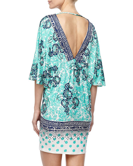 Batiki Mixed-Print Tunic
