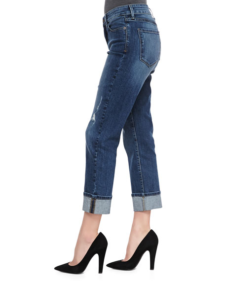 Bobbie Boyfriend Rolled-Cuff Jeans, Petite