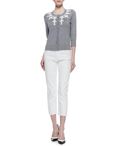 broome street capri pants, fresh white
