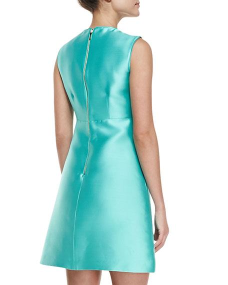 kate spade new york blakely sleeveless a-line dress, giverny blue