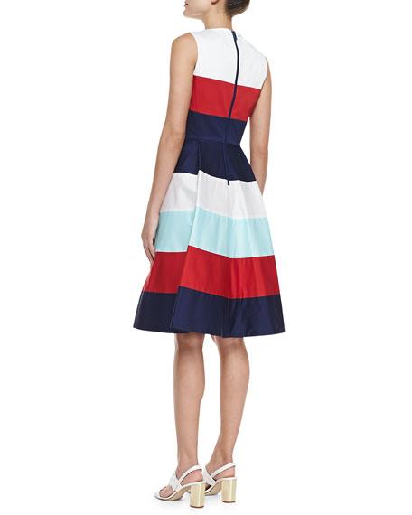 corley colorblock band dress, multicolor