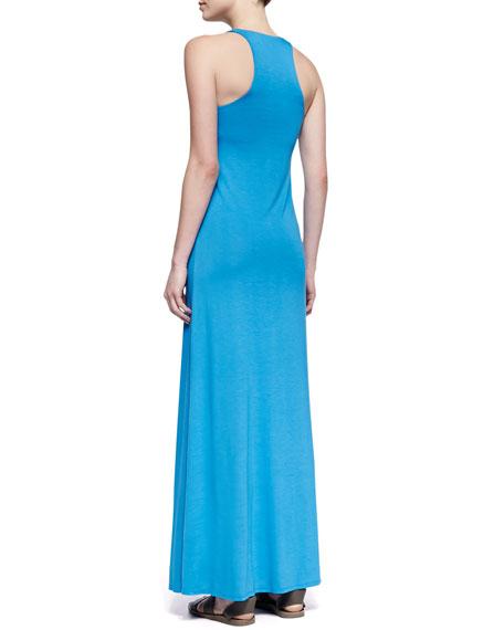 Sleeveless V-Neck Jersey Maxi Dress, Cote d'Azure