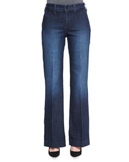 NYDJ Wynonna Wide-Leg Trouser Jeans, Petite