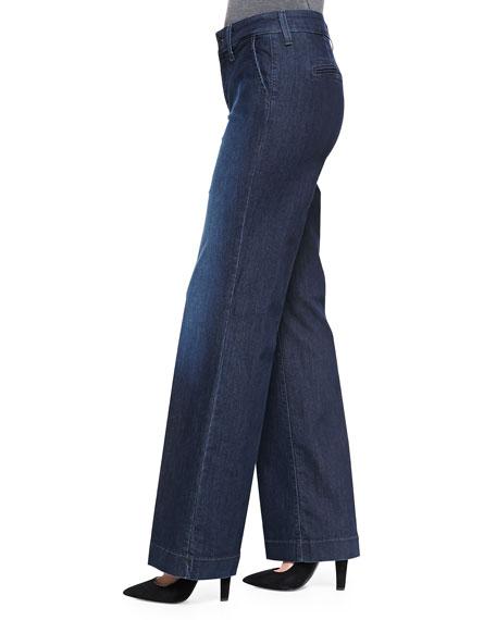 Wynonna Wide-Leg Trouser Jeans, Petite