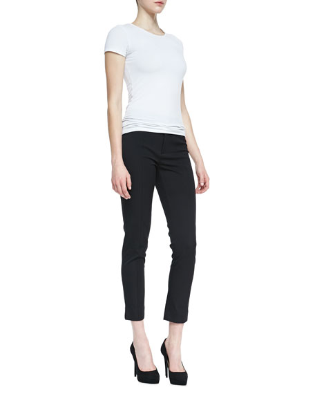 Bi-Stretch Ankle Pants, Petite
