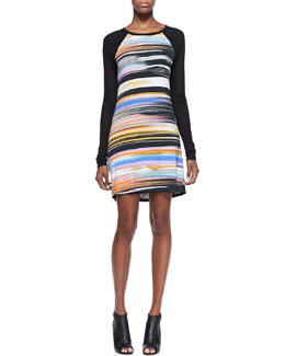 Trina Turk Montecito Long-Sleeve Sheath Dress