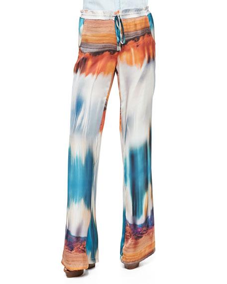 Pembroke Desert-Print Drawstring Pants