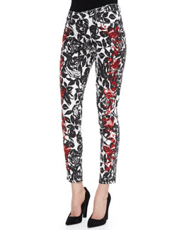 CJ by Cookie Johnson Wisdom Skinny Ankle Jeans, Black/Red
