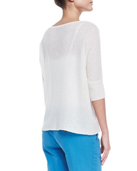 Sheer Lightweight Cashmere Pullover