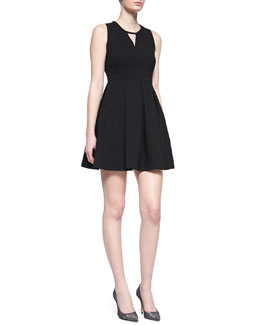 Jonathan Simkhai Pleated Crepe Sport Dress