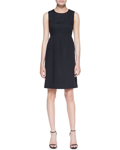 Neiman Marcus Sleeveless Babydoll Shirtdress
