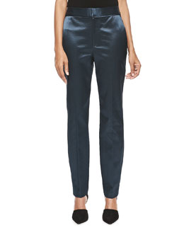 Theyskens' Theory High-Waist Skinny Pants, Marine