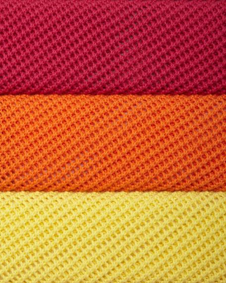 Scoop-Neck Half-Sleeve Mesh Tunic
