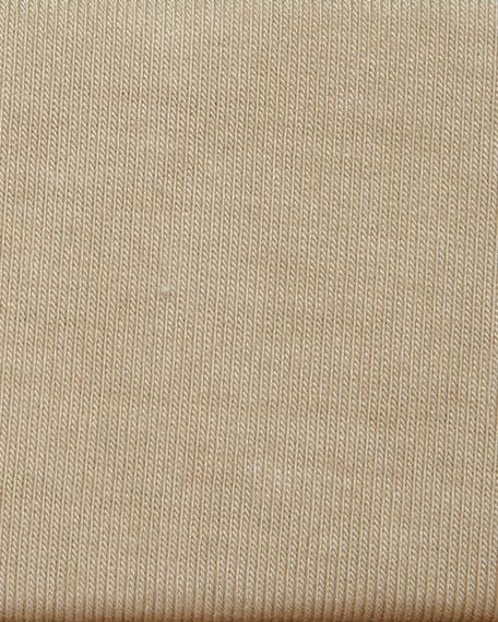 Soft Touch Marrow-Edge 3/4-Sleeve Boat-Neck Tee