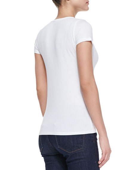 Stretch-Linen Short-Sleeve Tee
