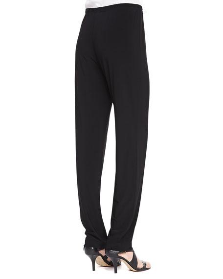 Stretch Knit Slim Pants, Black, Women's