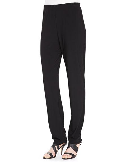 Stretch Knit Slim Pants, Black